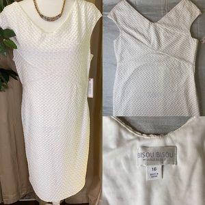 Bisou Bisou white dress size 16